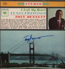 Tony Bennett Signed I Left My Heart In San Francisco Record Album Jsa Coa R18315