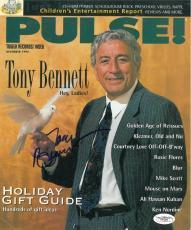 Tony Bennett Signed PULSE Authentic 9x10.5 Magazine Cover JSA COA #E51255