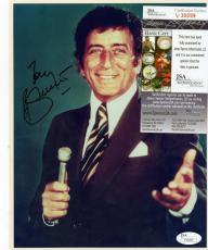 Tony Bennett Singer Stage Performer   Signed Autographed 8x10 Photo Jsa V30099