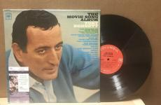 "Tony Bennett ""the Movie Song Album""  Signed Vinyl Lp Record Jsa S62850"
