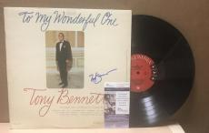 "Tony Bennett ""to My Wonderful One""  Signed Vinyl Lp Record Jsa S62851"