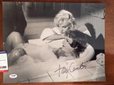 TONY CURTIS HAND SIGNED OVERSIZED 11x14 PHOTO      WITH MARILYN MONROE      PSA