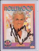 Tony Curtis Signed Starline Hollywood card