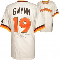 """Tony Gwynn San Diego Padres Autographed Mitchell & Ness Jersey with """"3141"""" Inscription (PSA/DNA)"""
