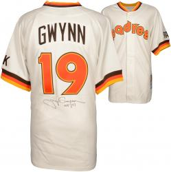 """Tony Gwynn San Diego Padres Autographed Mitchell & Ness Jersey with """"HOF 07"""" Inscription (PSA/DNA)"""