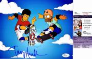 Tony Hawk Signed - Autographed Pro Skateboarder 8x10 inch Photo - The Simpsons - JSA Certificate of Authenticity