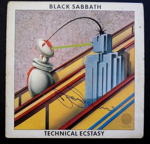 Tony Iommi Black Sabbath Technical Ecstasy Autographed Signed LP BAS Certified