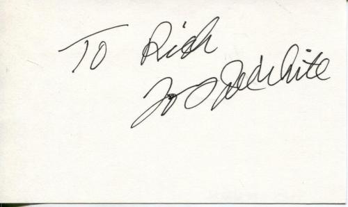 Tony Joe White Autograph Songwriter Singer Polk Salad Annie Signed Card