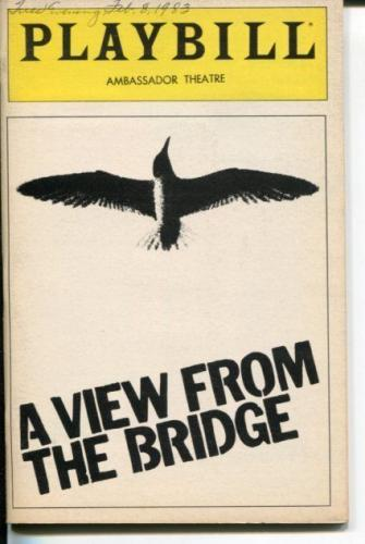 Tony Lo Bianco Arthur Miller A View From The Bridge 1983 Opening Night Playbill