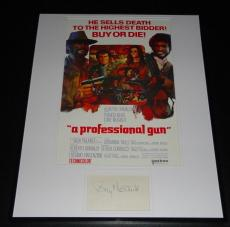 Tony Musante Signed Framed 16x20 Photo Poster Display A Professional Gun