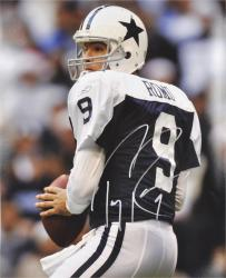 "Tony Romo Dallas Cowboys Autographed 16"" x 20"" Look To Pass Photograph"