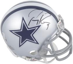 Tony Romo Dallas Cowboys Autographed Riddell Mini Helmet - Mounted Memories