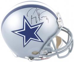 Tony Romo Autographed Helmet - Pro Line Riddell Authentic Mounted Memories