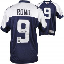 Tony Romo Dallas Cowboys Autographed Thanksgiving Day Reebok Authentic Jersey