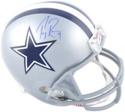 Tony Romo Dallas Cowboys Autographed Riddell Replica Helmet