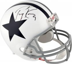 Tony Romo Dallas Cowboys Autographed Riddell Replica Throwback Thanksgiving Helmet - Mounted Memories