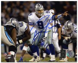 """Tony Romo Dallas Cowboys Autographed 8"""" x 10"""" Under Center Photograph"""