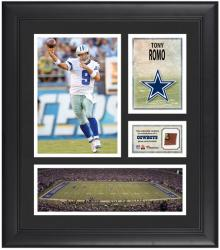 "Tony Romo Dallas Cowboys Framed 15"" x 17"" Collage with Game-Used Football"