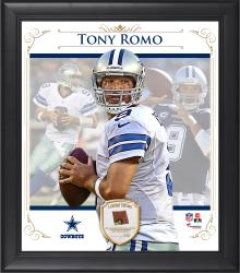 "Tony Romo Dallas Cowboys Framed 15"" x 17"" Composite Collage with Piece of Game-Used Football"