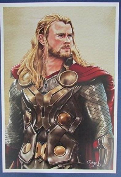 Tony Santiago Thor of The Avengers MARVEL 13x19 Print 127145