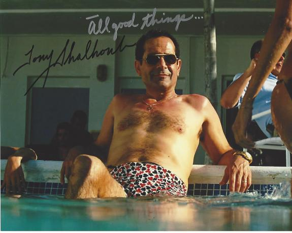 """TONY SHALHOUB - Best Known as ANTONIO SCARPACCIA on TV Series """"WINGS"""" and ADRIAN MONK on TV Series """"MONK"""" Signed 10x8 Color Photo"""