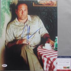 James Gandolfini Autographed Photograph - TONY SOPRANO!!! RIP THE SOPRANOS 11x14 #1 PSA DNA