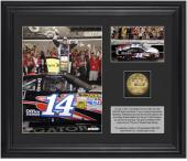 """Tony Stewart 2012 Coke Zero 400 Race Winner Framed 6"""" x 5"""" Photo with Plate & Gold Coin - Limited Edition of 320"""