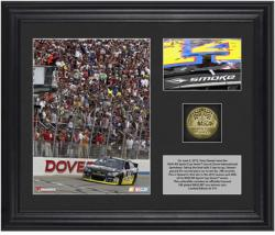 Tony Stewart 2013 Fed Ex 400 Autism Speaks Race Winner Framed 2-Photo Collage with Gold-Plated Coin - Mounted Memories