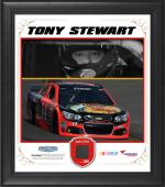 Tony Stewart Framed 15'' x 17'' Composite Collage with Race-Used Tire