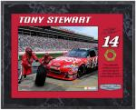 Tony Stewart 2010 Race-Used Lug Nut 8'' x 10'' Plaque - Limited Edition of 514 - Mounted Memories
