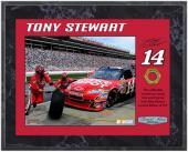 "Tony Stewart 2010 Race-Used Lug Nut 8"" x 10"" Plaque - Limited Edition of 514"