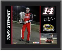 "Tony Stewart 2011 Sprint Cup Series Champion 10"" x 13"" Sublimated Color Plaque"