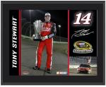 """Tony Stewart 2011 Sprint Cup Series Champion 10"""" x 13"""" Sublimated Color Plaque"""