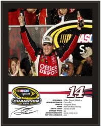Tony Stewart 2011 Sprint Cup Series Champion 12'' x 15'' Sublimated Color Plaque - Mounted Memories