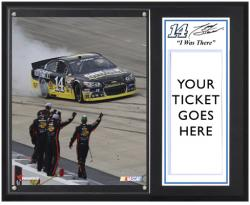 "Tony Stewart 2013 Fed Ex 400 Autism Speaks Race Winner Sublimated 12"" x 15"" I Was There Plaque"