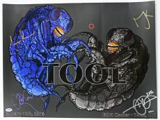 Tool (4) Carey, Keenan, Jones & Chancellor Signed 18x24 2016 Poster PSA #AA01922