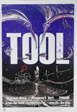 Tool (4) Carey, Keenan, Jones, Chancellor Signed 20x28 2009 Poster PSA #AA01925