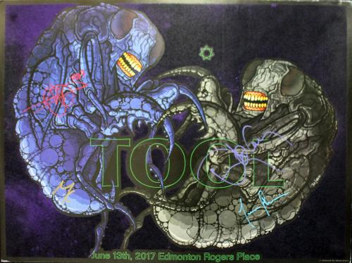 Tool (4) Keenan, Jones, Carey +1 Signed 18x24 Poster LE #32/400 BAS #A85701