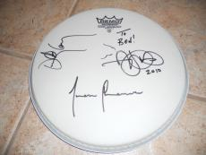 "Tool Band Signed 10""  Drumhead x 3 Members Adam Danny & Justin"