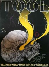 TOOL San Diego Show Autographed Signed Poster Authentic AFTAL COA