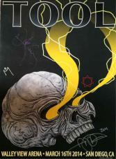 Tool San Diego Show Valley View Autographed Signed Poster Authentic AFTAL COA