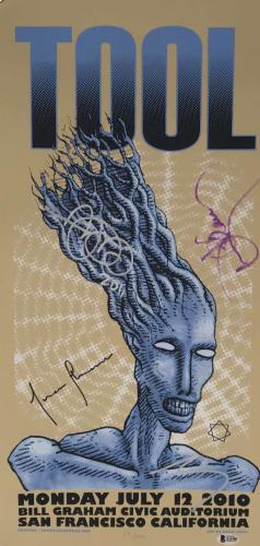 TOOL Signed Autographed 2010  San Francisco Poster Maynard +3 Beckett BAS