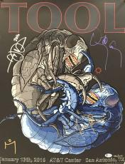 TOOL Signed Autographed 2016 San Antonio 16x20 Poster Maynard +3 Beckett BAS
