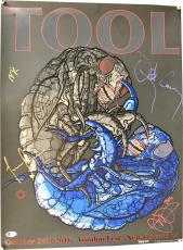 TOOL Signed Autographed 2016 Voodoo Fest 16x20 Poster Maynard +3 Beckett BAS