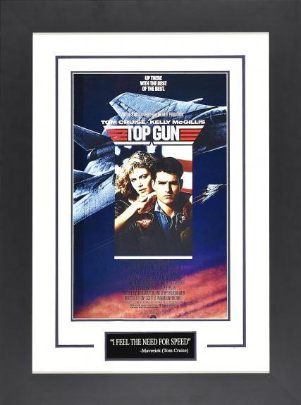 Top Gun Display. Framed 21×28.