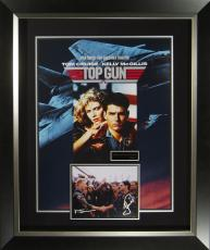 Top Gun Tom Cruise and Val Kilmer Signed Poster Framed