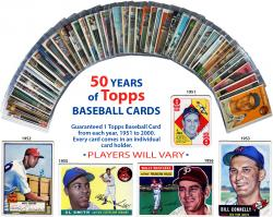 1951-2000 Topps Card Collection of 50 Cards - Mounted Memories