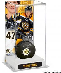 Torey Krug Boston Bruins Deluxe Tall Hockey Puck Case