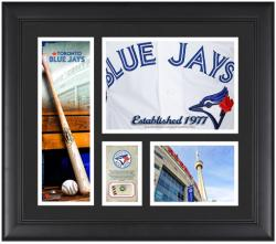 """Toronto Blue Jays Team Logo Framed 15"""" x 17"""" Collage with Piece of Game-Used Ball"""
