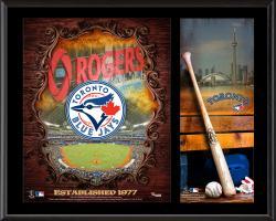 "Toronto Blue Jays Sublimated 12"" x 15"" Team Logo Plaque"